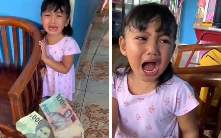 Viral! Anak Kecil Takut Dan Menangis Ketika Diberikan Uang