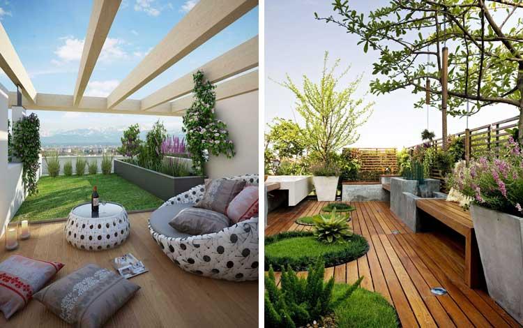Inspirasi Desain Taman Diatap Rumah Yang Cozy Abis