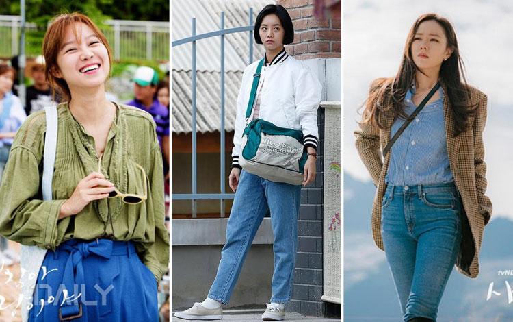 Inspirasi Outfit Kuliah Ala Artis Drama Korea Yang Kece Abis