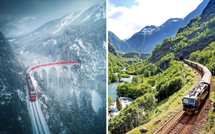 Lintasan Kereta Api Dengan Pemandangan Terindah di Dunia