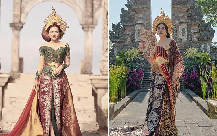 Artis Indonesia dengan Busana Adat Bali