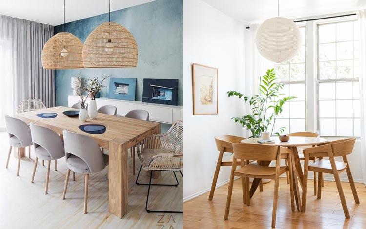 Desain ruang makan simple minimalis