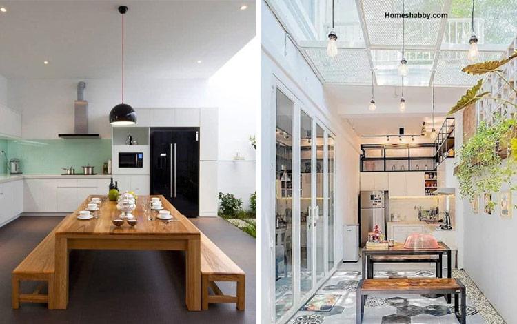 Desain Dapur Minimalis di Ruang Terbuka